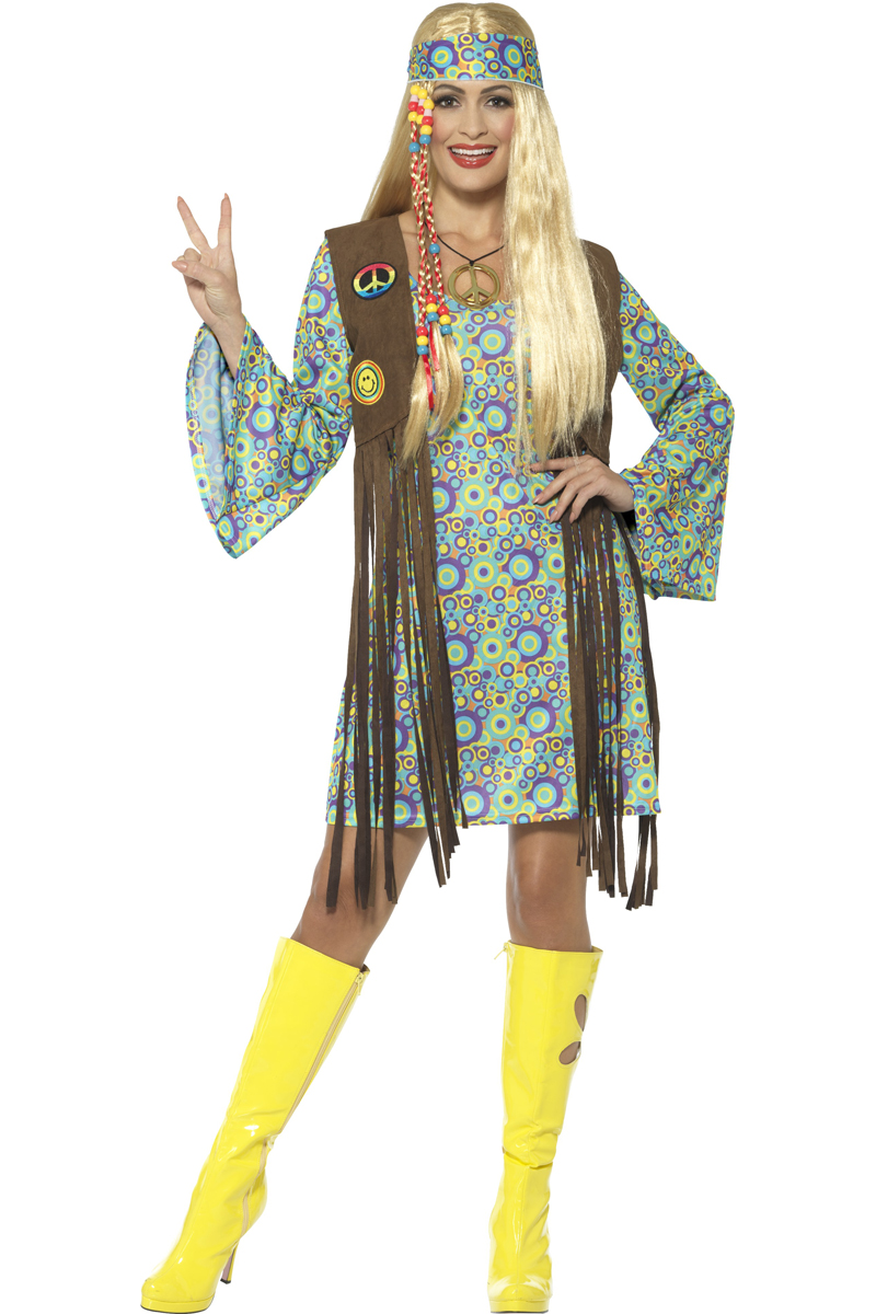 c2ef30e6cc1535 60s Circle Hippie Vrouw Kostuum voor jouw jaren 60 feest!
