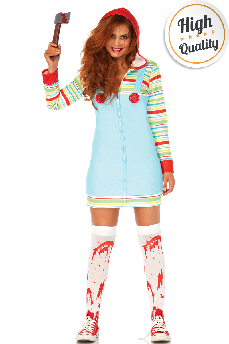 Dames Cozy Killer Doll Chucky Kostuum Voor Halloween