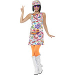 60s Love Hippie Vrouw Kostuum