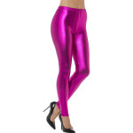 80s Metallic Disco Legging Pink