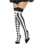 Kousen Harlequin Zwart-Wit