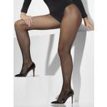 Panty Net Zwart XL