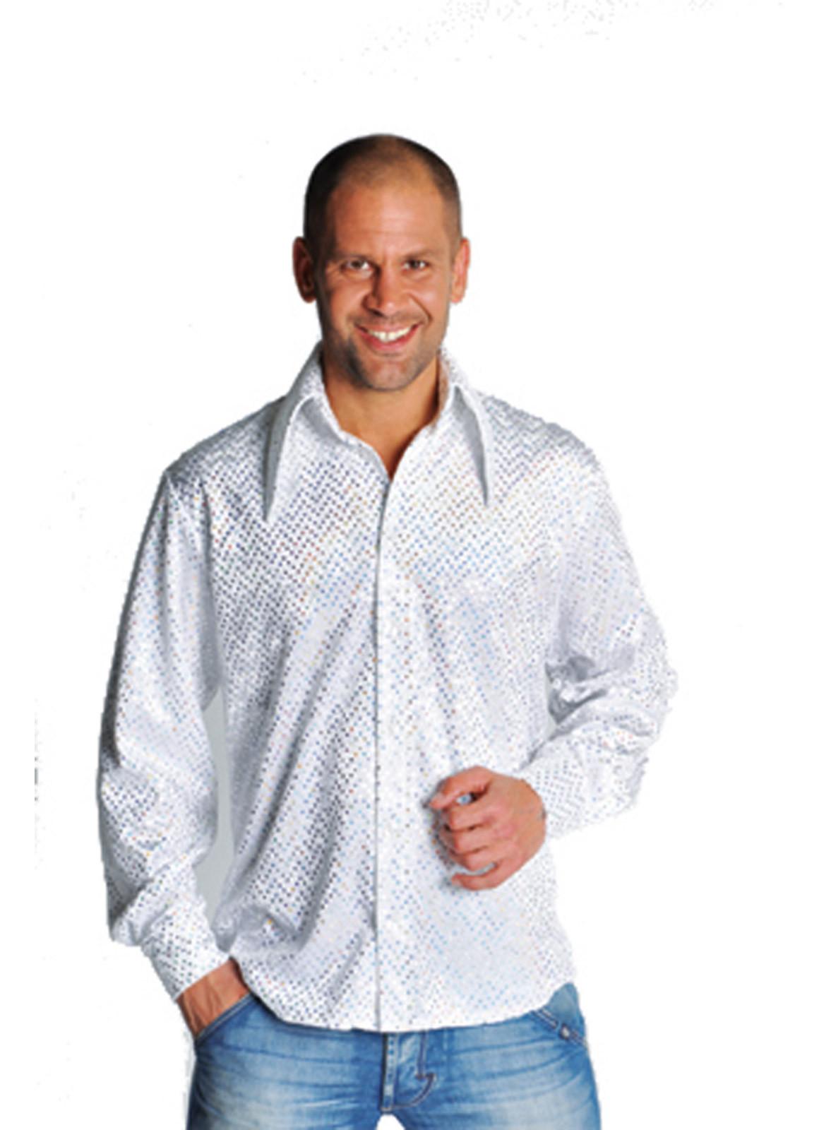 Glitter Hemd Wit
