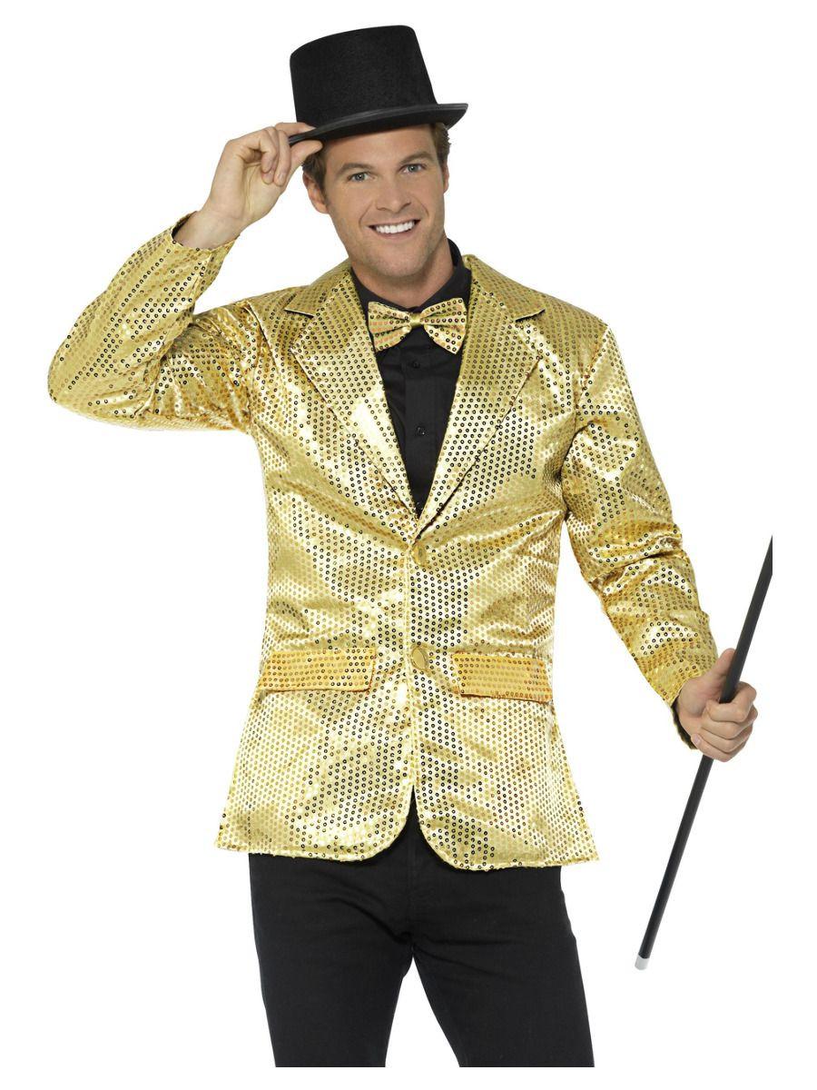 Glitter Jasje Goud Heren