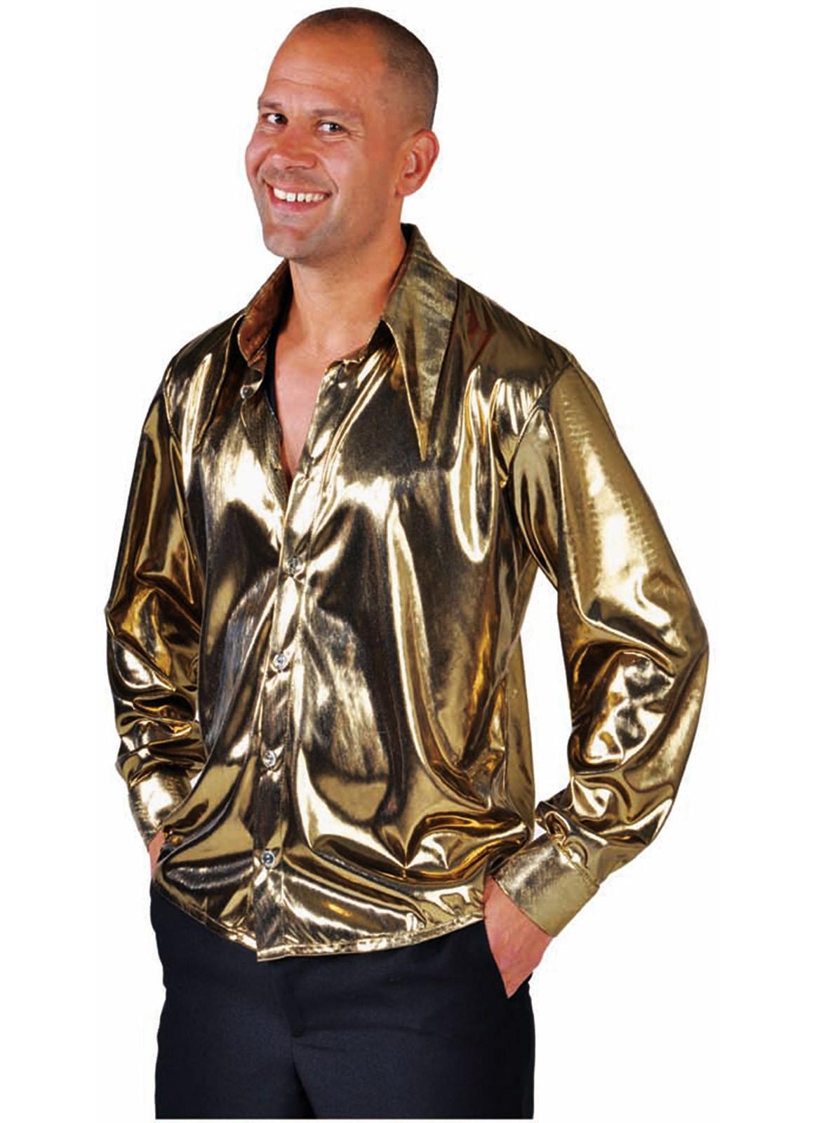 Heren Blouse Goud Metalic