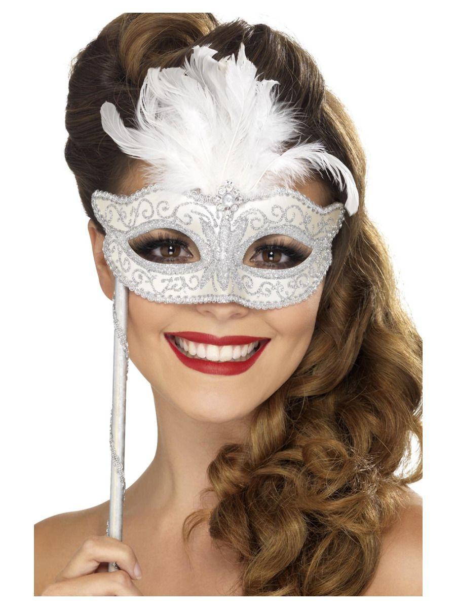 Baroque Masker Zilver