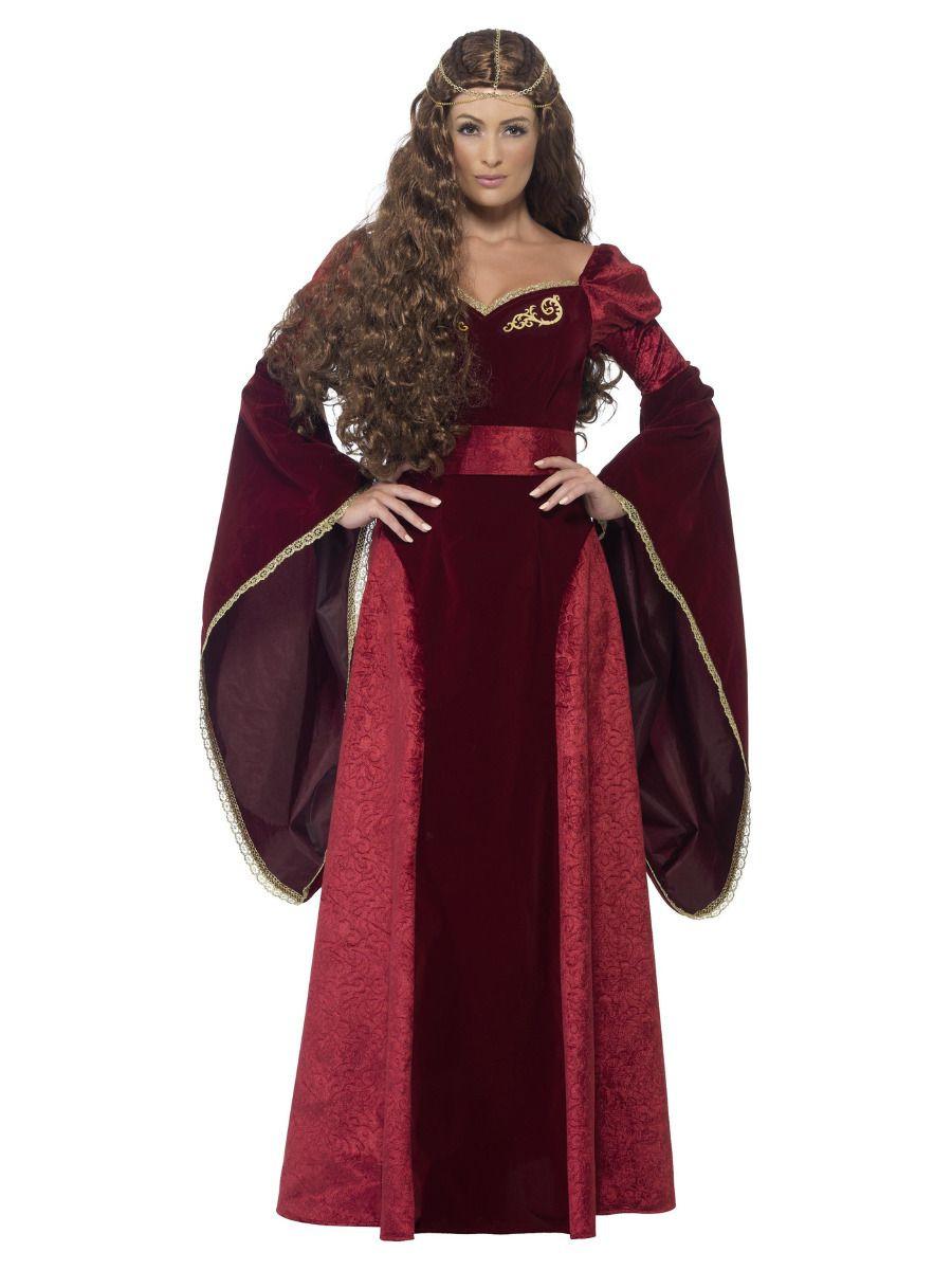 Deluxe Middeleeuws Queen Kostuum