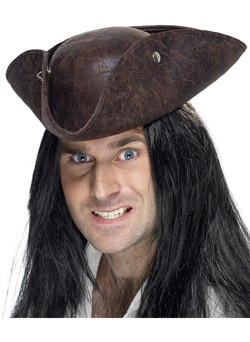Piraat Tricorn Hoed Bruin
