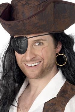 Piraat Ooglap- Oorbel