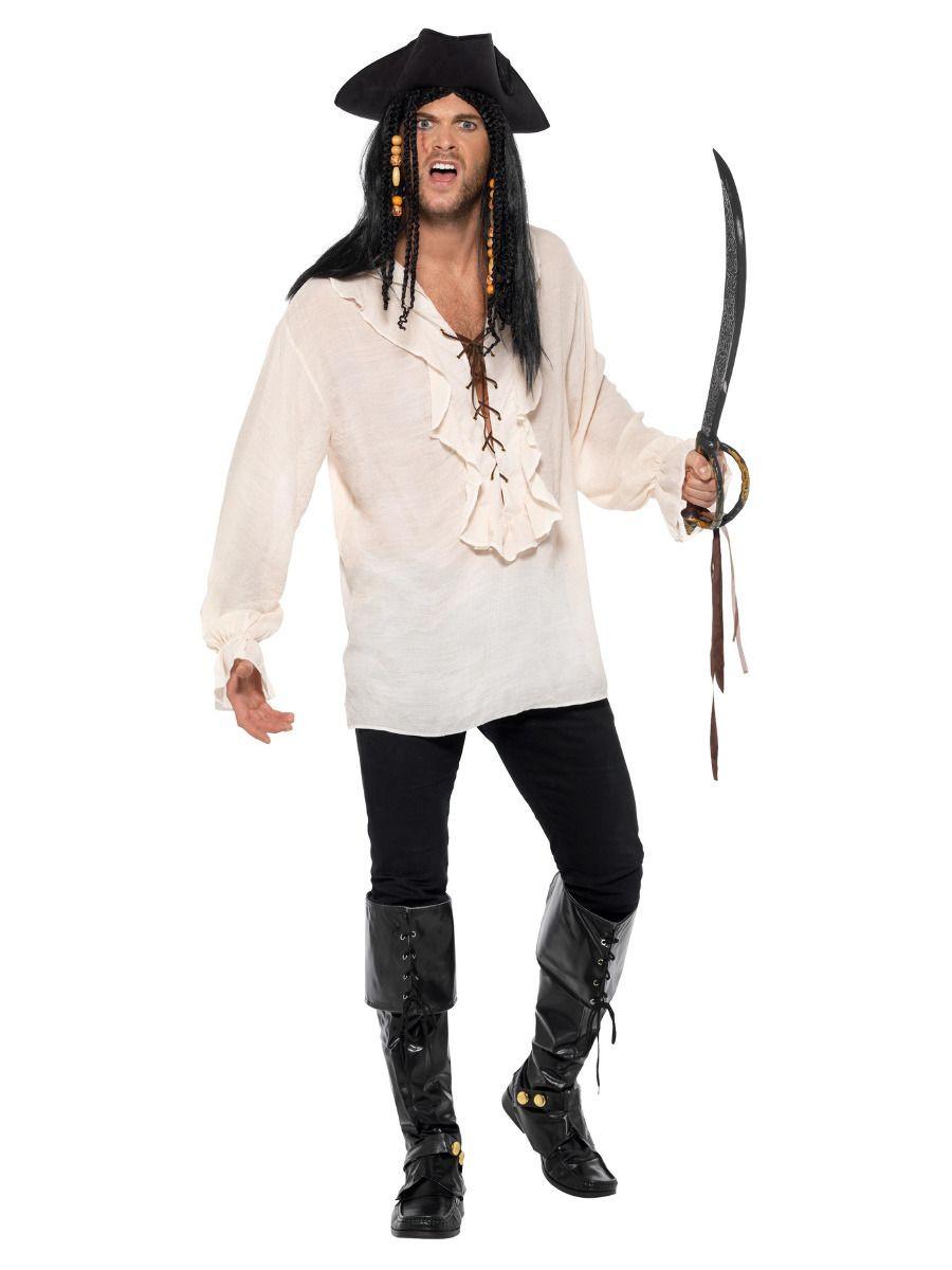 Deluxe piraat shirt ivoor