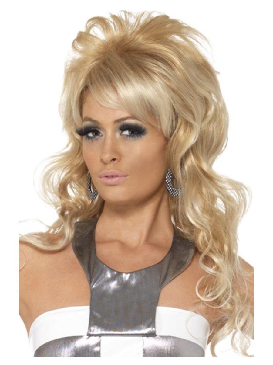 Disco Queen Pruik Blond