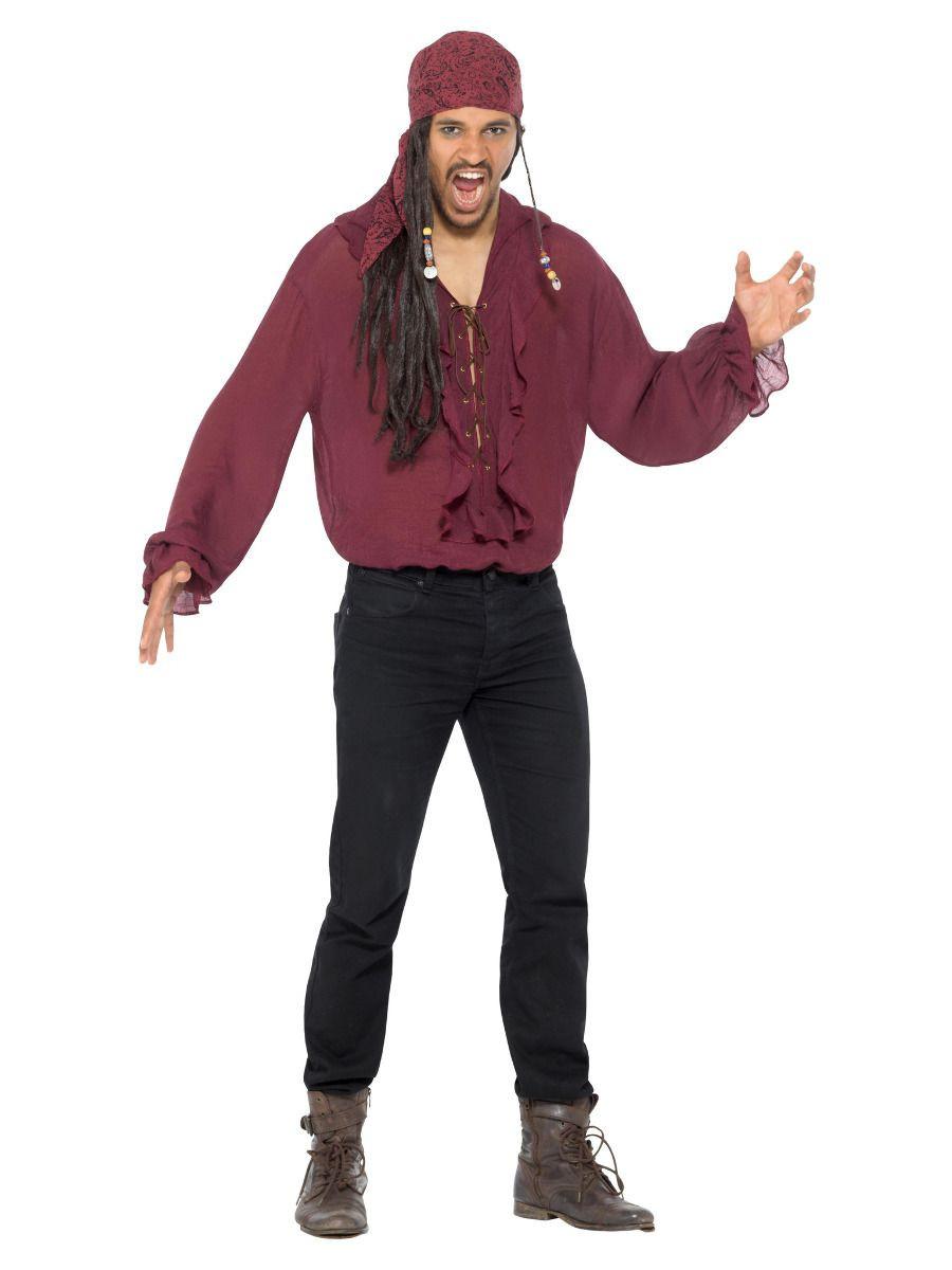 Deluxe piraat shirt rood