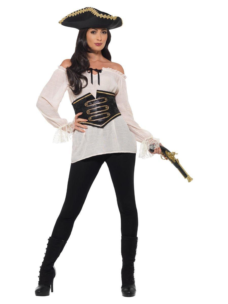 Piraat Shirt Dames Ivoor