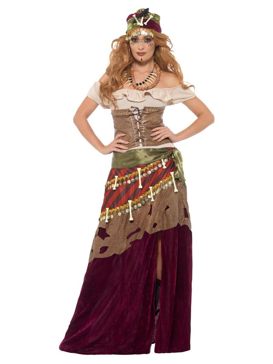 Deluxe Voodoo Dames Kostuum