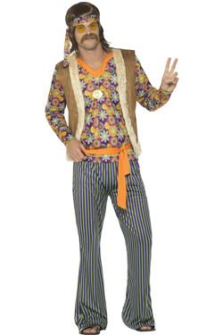 60s Singer Hippie Man Kostuum
