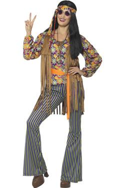 60s Singer Hippie Vrouw Kostuum