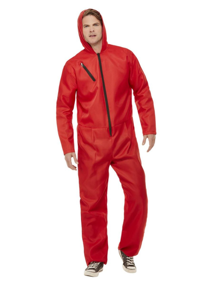 Bank Robber Jumpsuit Rood