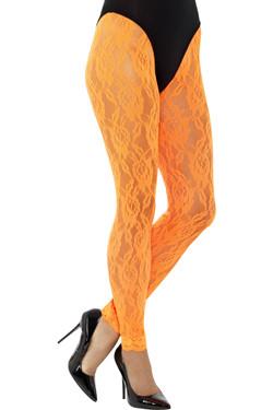 80s Kanten Legging Oranje
