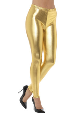 80s Metallic Disco Legging Goud