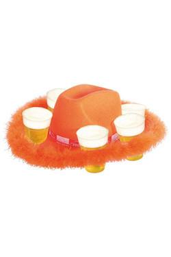 Bierhoed Oranje met rand