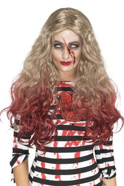 Blonde Zombie Pruik