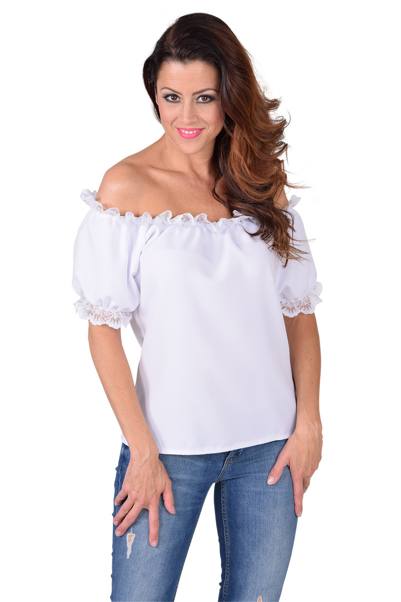 Blouse Off Shoulder Wit