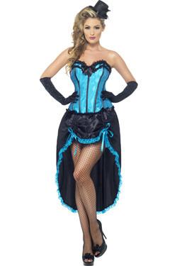 Burlesque Dancer Blue