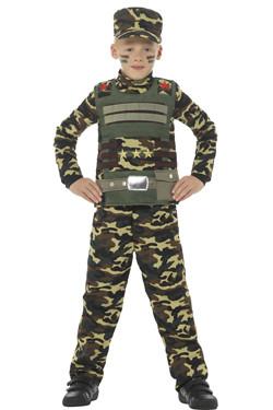 Camouflage Leger Kostuum Kids