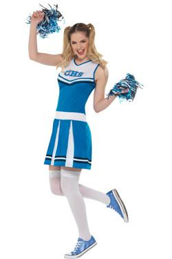 Cheerleader Kostuum Blauw