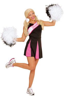 Cheerleader zwart roze