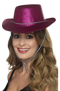 Cowboy Glitter Hoed Pink