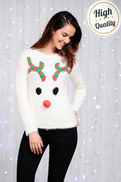 Dames Kersttrui Rudolph