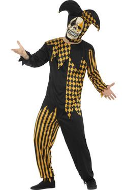 Evil Jester Kostuum Zwart-Goud