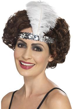 Flapper Haarband Zilver