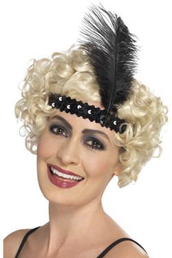 Flapper Haarband Zwart