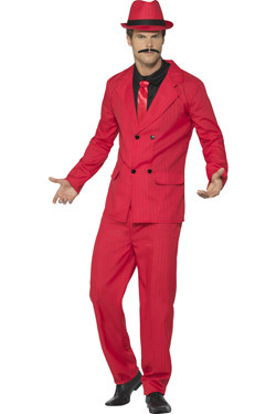 Gangster Zoot Suit Rood