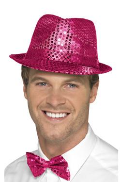 Glitter Hoed Pink