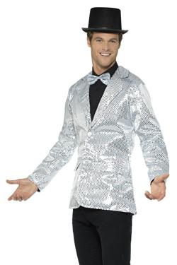 Glitter Jasje Zilver Heren