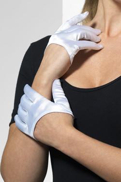 Halve Handschoenen Wit