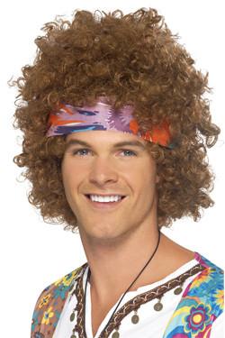 Hippie Afro Pruik Man