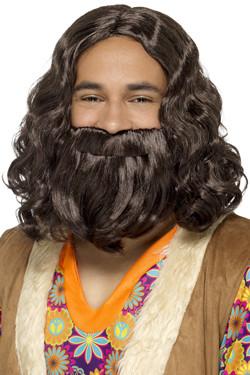 Hippie Jezus Pruik met Baard