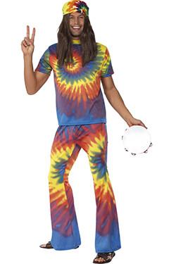 Hippie Tie Dye Man