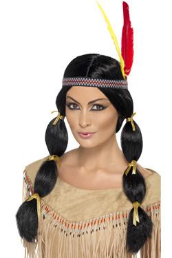 Indiaan Lady Pruik