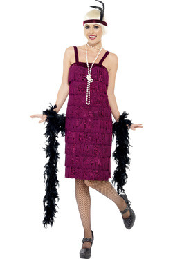 Jazz Flapper Burgundy