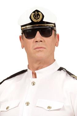 Kapitein bril met hoed