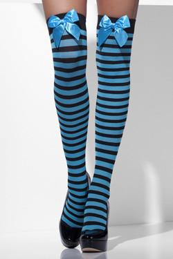 Kousen Strepen Blauw-Zwart