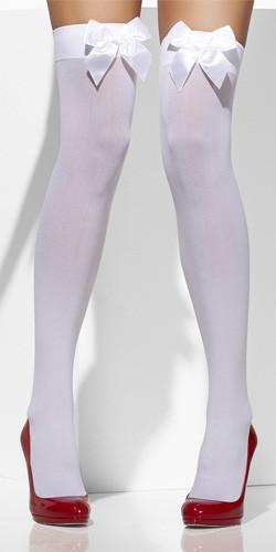 Kousen Wit met strik