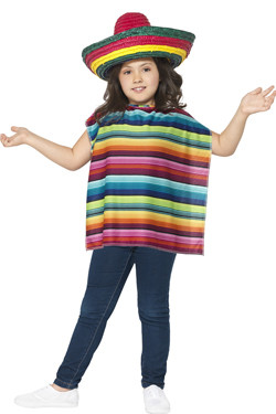 Mexicaanse Poncho Kit Kids