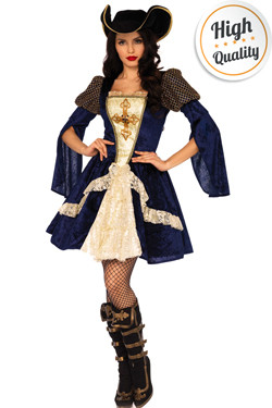 Musketier Dame Kostuum