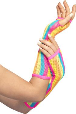 Net Handschoenen Neon Strepen